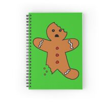 Gingerbread Man, Green Spiral Notebook