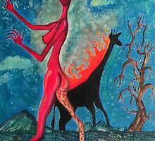 The Burning Giraffe Interpretation  by IrotTori
