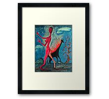 The Burning Giraffe Interpretation Framed Print