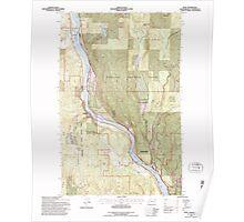 USGS Topo Map Washington State WA Ruby 243533 1992 24000 Poster