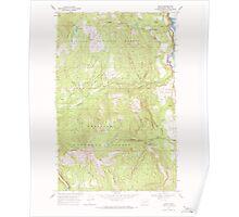 USGS Topo Map Washington State WA Boyds 240185 1969 24000 Poster