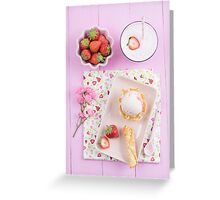 Strawberry ice cream Greeting Card