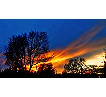 Skies On Fire Photographic Print