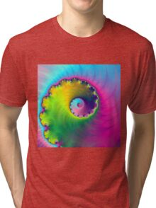 Color Wash Spiral Tri-blend T-Shirt