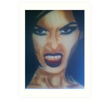 angry woman Art Print