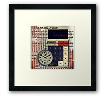 cool geeky nerdy alarm clock retro calculator  Framed Print