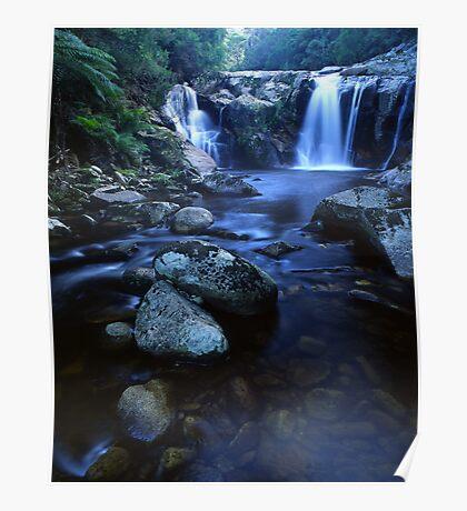 """Halls Falls"" ∞ The Blue Tier, Tasmania - Australia Poster"