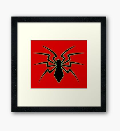 Glowing Spider Framed Print