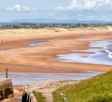 Northumbrian beach scene Sticker