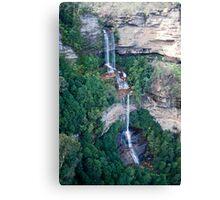 Blue Mountain Waterfall Canvas Print