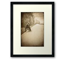 lonely man Framed Print