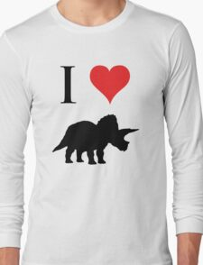 I Love Dinosaurs - Triceratops Long Sleeve T-Shirt