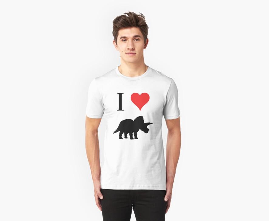 I Love Dinosaurs - Triceratops by jezkemp