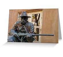 Vigilant Soldier Greeting Card