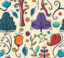 Plant Pattern Color  Sticker