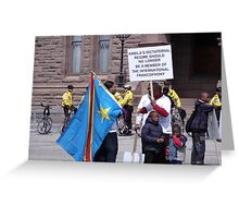Protest at Queen's Park. Elections in Congo Greeting Card