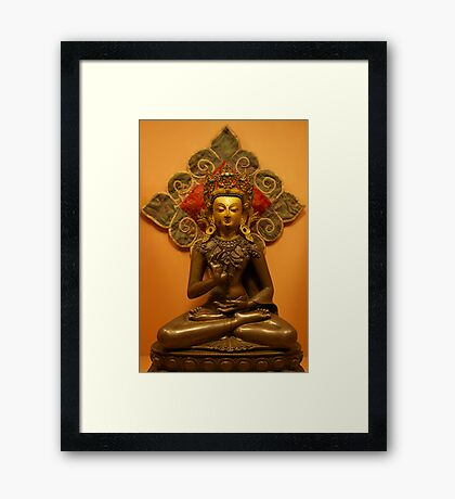 Amoghasiddhi, the Buddha of Unfailing Success, Patan Museum, Nepal Framed Print