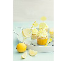 Lemon cupcakes Photographic Print