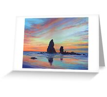 Haystack Rock, Canon Beach. USA Greeting Card