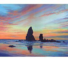 Haystack Rock, Canon Beach. USA Photographic Print