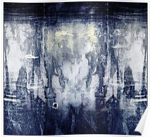 bleached indigo Jeans Poster