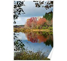 Colorful Fall Reflection Landscape Poster