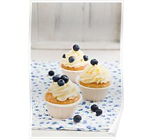 Blueberry cupcakes Poster