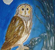 Owl - Wisdom  by Joanne Thomas