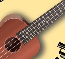 Ukulele Land Logo Sticker