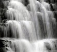 Waterfall Cascade Waterfall Landscape Art by Christina Rollo