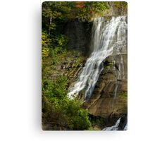 Fall Creek Waterfall Landscape Canvas Print