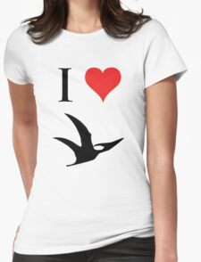 I Love Dinosaurs - Pterodactyl Womens Fitted T-Shirt