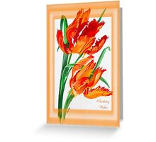 Birthday Wishes - Parrot Tulips Greeting Card