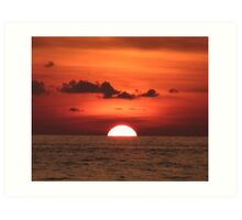 Thai Red Sunset Art Print
