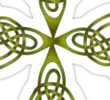 Lindisfarne St Johns Knot Grunge Sticker