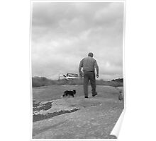 Dale Wells and dog Poster