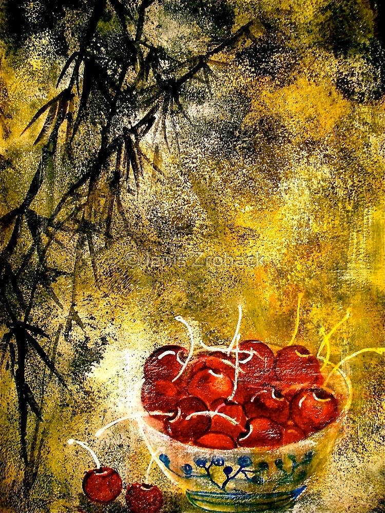 Cherries with Bamboo.. by ©Janis Zroback