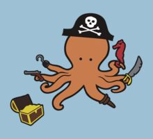 Pirate Octopus Kids Tee