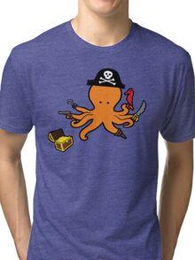 Pirate Octopus Tri-blend T-Shirt