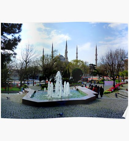 Istanbul: Minarets in the background Poster