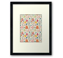 Plant Pattern Color 3 Framed Print