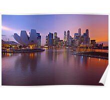 Marina Bay, Singapore At Dusk. (2) Poster