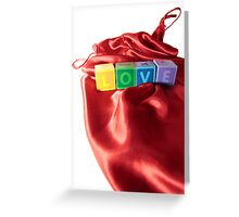 love letters on silk nightie Greeting Card