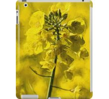 Very Yellow with Liquid Lines texture iPad Case/Skin