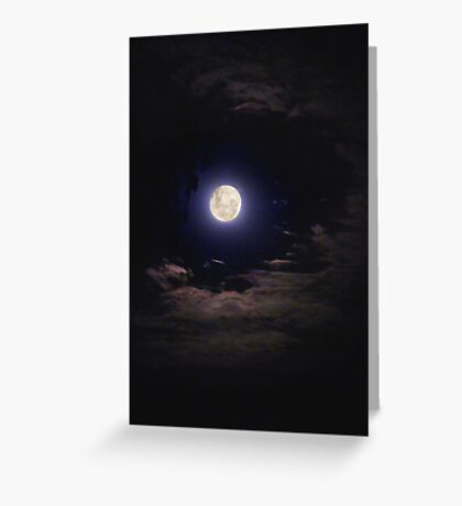 Super Moon on the Wane Greeting Card