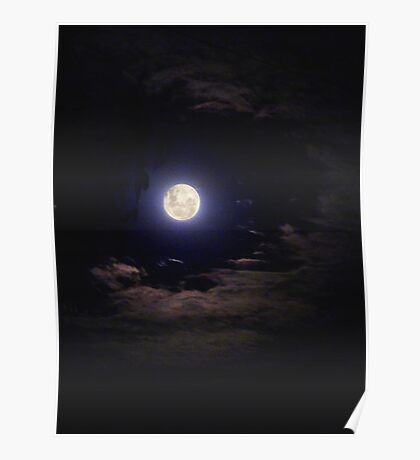 Super Moon on the Wane Poster