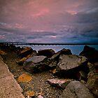 Sky, Rocks, and Bridge by bazcelt