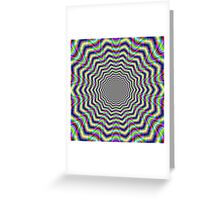 Psychedelic Web Star Greeting Card