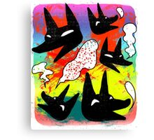 Whimsical Wolfes Canvas Print