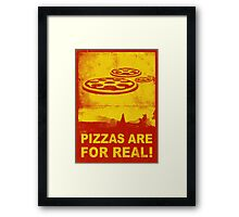 Pizzas are for real! ...Fast flying pizzas Framed Print